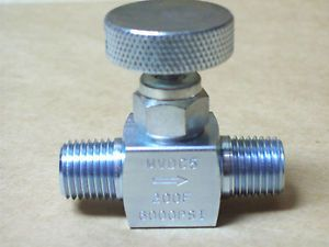 "Needle Valve Mini 1 4"" Male x Male NPT Carbon Steel 6000 PSI New 560IN06"