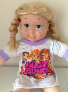 Vintage 1990 Playskool Hasbro My Buddy Kid Sister Blonde Doll in Hugga Bunch