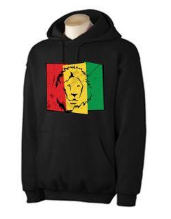 Lion of Judah Flag Hoodie Rasta Reggae Bob Marley Rastafarian Color Choice