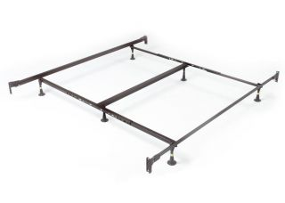 Metal Bed Frame with Headboard and Footboard Brackets in Twin Full Queen King