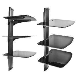 3 Tier Component Shelf Wall Mount AV DVD Cable Box Game Console TV Stereo Rack