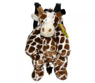 Backpack Bag Giraffe Travel Buddies Plush Pillow Doll Boys Girls Mochila New