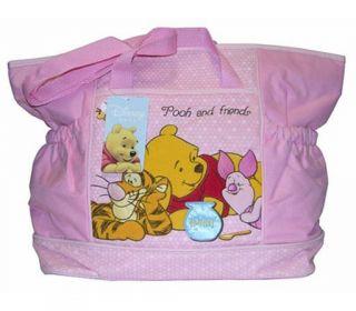 Disney Winnie Pooh Piglet Tigger Baby Pink Diaper Bag
