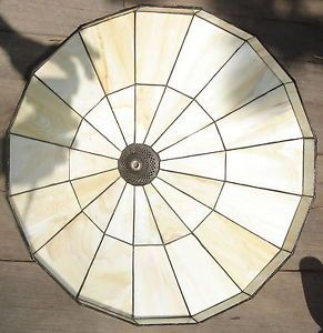 Spectrum Arts Mission Style Large Stained Glass Hanging Pendant Lamp or Shade