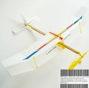 Sky Touch Rubber Band Powered Glider Plane Kit Aircraft Glider Model Toy