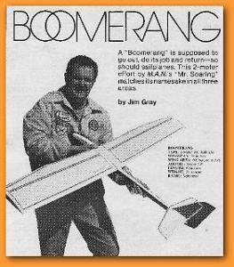 RC Glider Boomerang RC Sailplane Model Airplane Plan