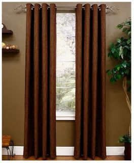 "Miller Curtains Berman Lined Grommet Window Panel Brownstone 50"" x 95"" New"