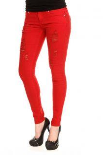 Hot Topic Red Skinny Jeans Lovesick Hot Emo Scene Punk Goth Rocker Pants 15