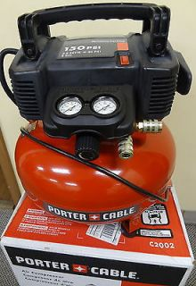 Porter Cable 0 8 HP 6 Gallon 150 PSI Electric Air Compressor C2002