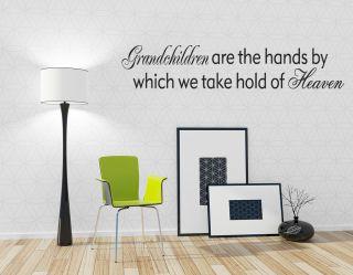 "Grandchildren Home Room Decor Vinyl Wall Art Decal 28"""