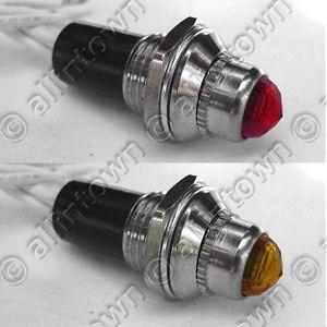 12V Indicator Lights Lamps Pilot Dash Toggle Signal Red Amber Light Hot Rod