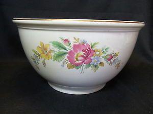 Homer Laughlin Large Mixing Bowl Kitchenkraft Ovenserve Flowers Design