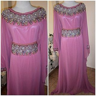 Very Nice Dubai Very Fancy Kaftans Abaya Jalabiya Khaleeji Light Pink