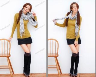 Hot Lady Women's Two Tone Thigh High Over The Knee Socks Leg Warmers 9 Colors