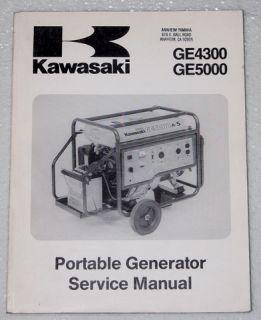 Kawasaki GE4300 GE5000 Generator Service Manual Original Repair 99924 2040 01