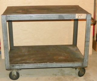 Vintage Industrial Steel Handling Cart Interior Decor Salvage Kitchen Island