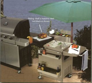 Jenn Air Stainless Steel Outdoor Gas Kitchen Bbq Grill