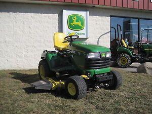 Used John Deere X485 Garden Tractor Riding Lawn Mower with Dozer Blade