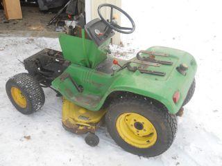 Vintage 1975 John Deere 200 Garden Tractor Lawn Mower Rider Riding 210 218 Parts