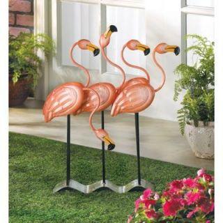 New Flock O Flamingos Decor Statue Lawn Garden Patio Outdoor Indoor Yard Art