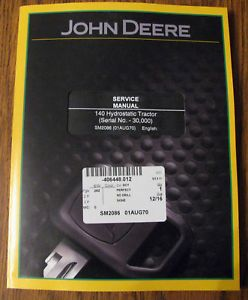 New John Deere 140 Hydro Lawn Garden Tractor Service Technical Manual SM2086