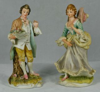 2 Lefton Collectible Porcelain Figurine Mildred George KW 3046 Marked