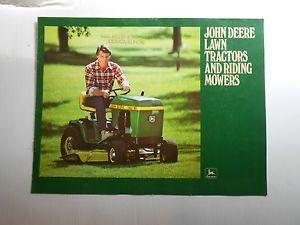 John Deere Lawn Tractor Brochures