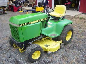 John Deere 420 Garden Tractor Lawn Mower