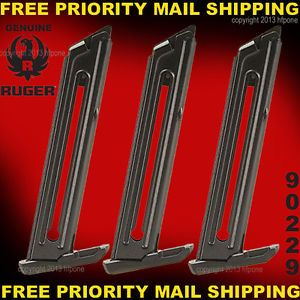 3 Ruger 90229 10 Round 22 Caliber Magazines for Ruger 22 45 Lite Mark III 22 45