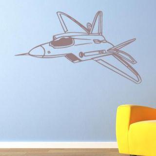 Fighter Jet F22 Raptor Vinyl Wall Art Decal Sticker Kids Air Plane VE014