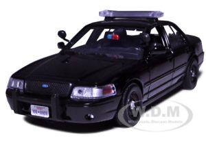 2007 Ford Crown Victoria Police Car Black 1 24