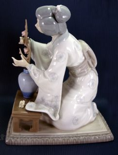 Lladro Porcelain Figurine Oriental Girl 4840