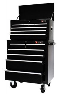 """New 26"""" Top Tool Box Chest Rolling Cabinet Black Steel Construction Toolbox"""