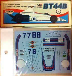 1 20 Ace Brabham BT44B Extra S27 Decal F1 Studio 27 MFH Hiro