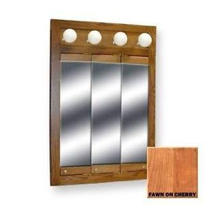 ... Bertch 30x24 4 Bulb Triview Medicine Cabinet Cherry Wood ...