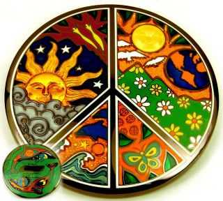 Peace Night Day Yin Yang Whale Moon Geocoin Dan Morris