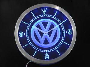 NC0171 B Volkswagen VW Car Neon Sign LED Clock