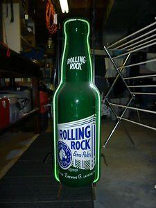 Rolling Rock Bottle Beer Neon Light Bar Sign Nice