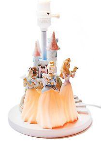 Disney Princess Castle Lamp Night Light Hampton Bay Snow White Cinderella Auro