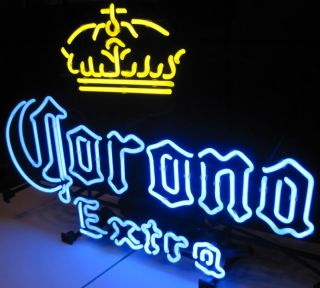 Corona Extra Cerveza Beer Bottle Logo Crown Store Pub Neon Wall Light Bar Sign