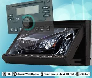 "Radio USB SD Car Stereo DVD Music Player 7"" Touch Screen Steering Wheel Ctrl"
