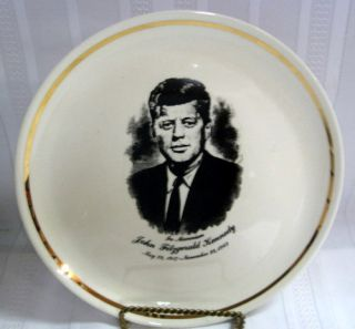 JFK Memorial Ceramic Plate John Kennedy 1947 1963