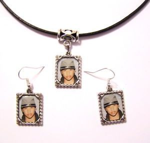 Roc Royal Mindless Behavior Framed Picture Necklace Earrings Jewelry Set