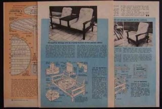Redwood Lawn Furniture How to Build Plans Table Settee Lounge