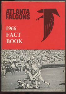 1966 Atlanta Falcons First Year NFL Football 'Fact Book' Media Guide Tommy Nobis