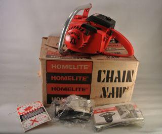 Vintage Homelite Super XL AO Chainsaw Original Box Bright Red