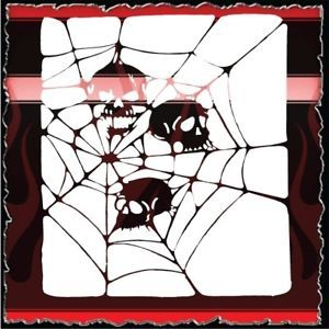 Skull Web 2 Airbrush Stencil Template Harley Paint