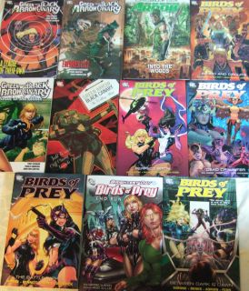 Birds of Prey DC 11 Graphic Novel Lot Black Canary Green Arrow Batgirl Huntress