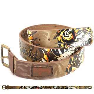 Ed Hardy Multi EH1398 Mens Cage Leather Belt