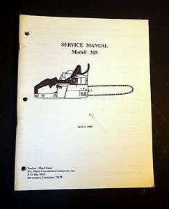 Poulan Chain Saw Model 325 Service Repair Troubleshooting Manual